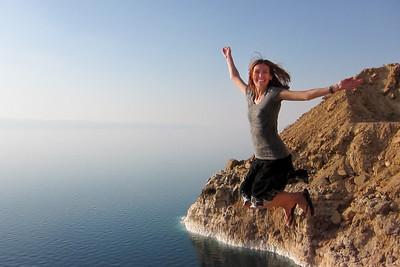 The pretty salt rocks lining Jordan's side of the Dead Sea.