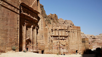 The Street of Facades in Petra, Jordan.