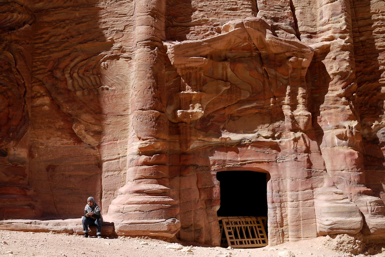 Besides the main tombs and structures, there are dozens and dozens of beautiful rock carvings throughout Petra, Jordan.