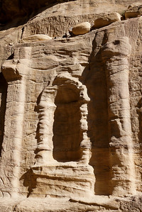 A small area for local gods and statues in Petra, Jordan.
