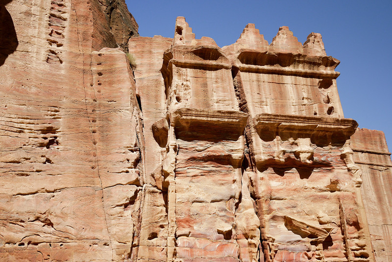 One of the structures on the Street of Facades in Petra, Jordan.