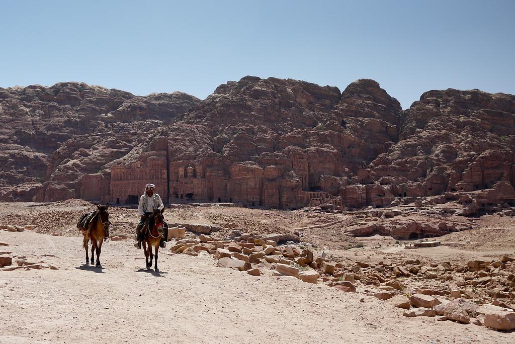 in Petra, Jordan.
