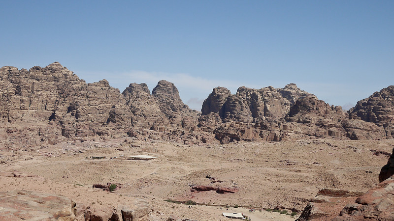 The endless number of rocks that make up the ancient city of Petra, Jordan.