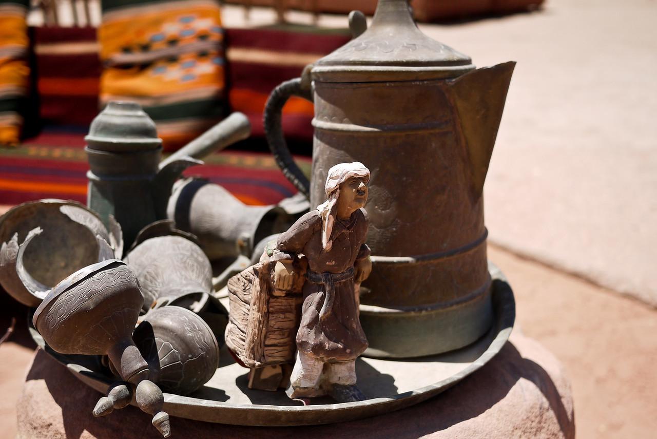 A jumble of knick-knacks in Petra, Jordan.