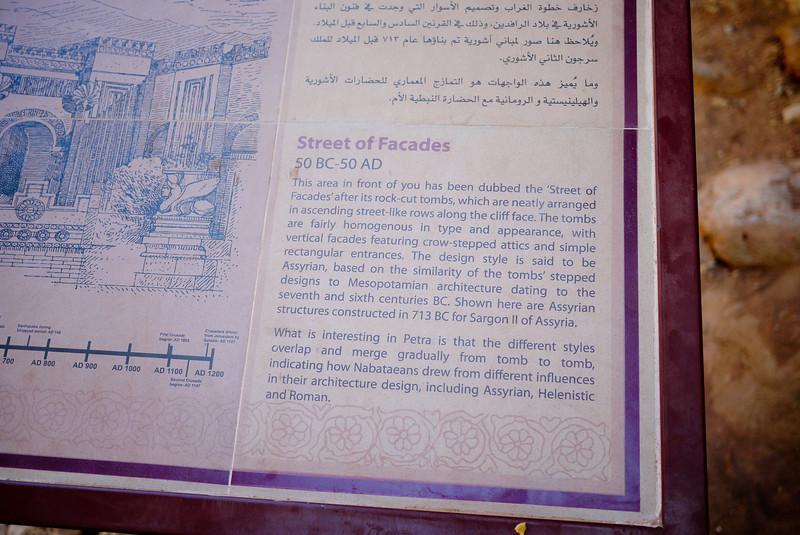 Sign at Petra, Jordan.