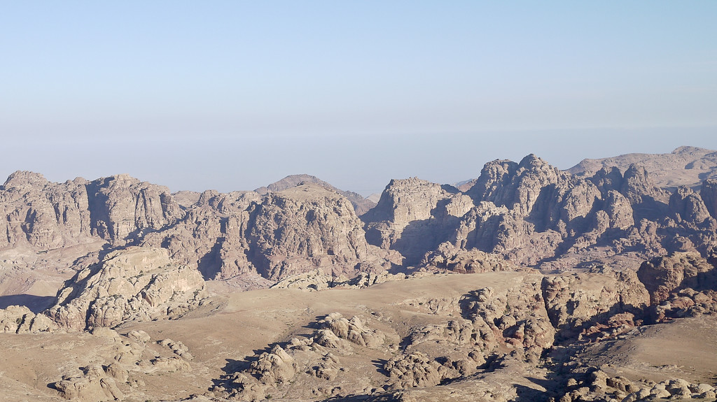 Petra Rocks from Wadi Musa, Jordan