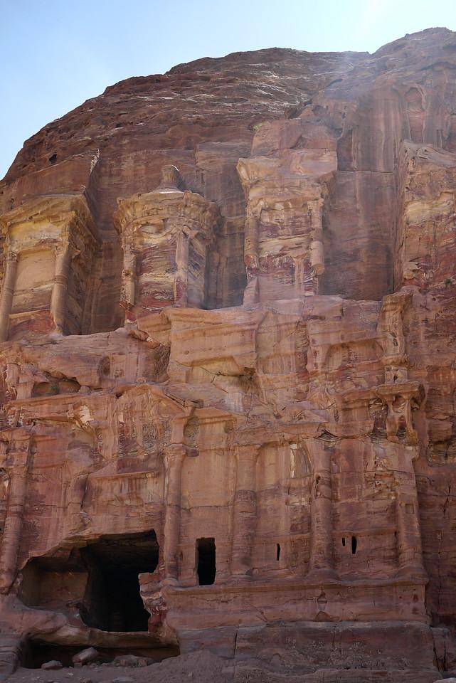 The tombs of Petra, Jordan.