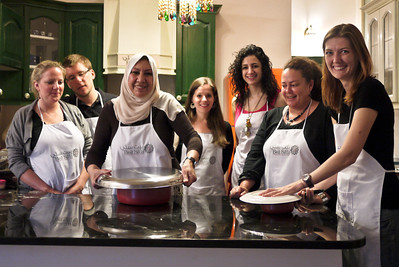 Our cooking class at the Beit Sitti cooking class in Amman, Jordan