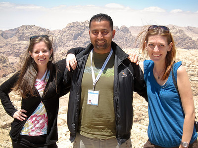 Jodi, Ali and me as we just arrive in Wadi Musa and prepare for a day at Petra, Jordan