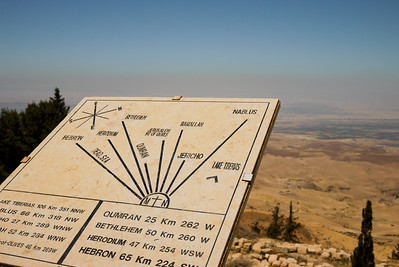 The Dead Sea and the Holy Land from Mount Nebo in Jordan