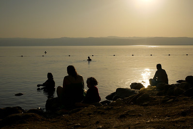 Sunset at the Dead Sea from Jordan
