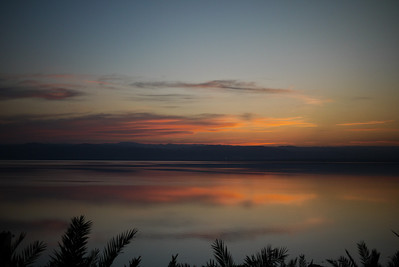 Gorgeous sunset from the Dead Sea from Jordan