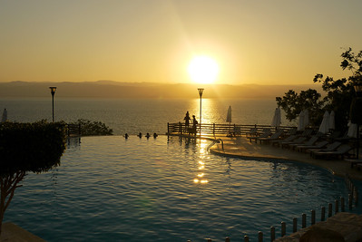 Sunset from the Marriott at the Dead Sea from Jordan