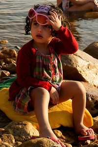 This little girl is vogueing out as the rest of us coated ourselves in mud at Dead Sea in Jordan