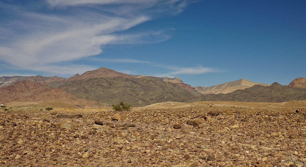The Feynan Valley on the way to the Feynan Ecolodge in Jordan