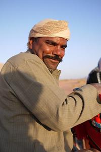 Shababla, our sunrise camel guide, in Wadi Rum, Jordan