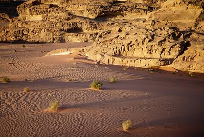 Desert sands at sunset, Wadi Rum, Jordan