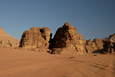 Rock formations in Wadi Rum, Jordan