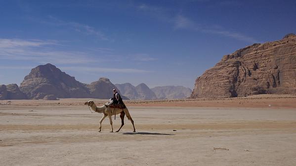 A dawn camel ride in Wadi Rum, Jordan