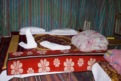The tent rooms at Captain's Desert Camp in Wadi Rum, Jordan