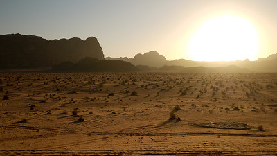 Sunset over Wadi Rum Desert, Jordan