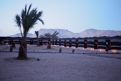 Night settles in at Captain's Desert Camp in Wadi Rum, Jordan