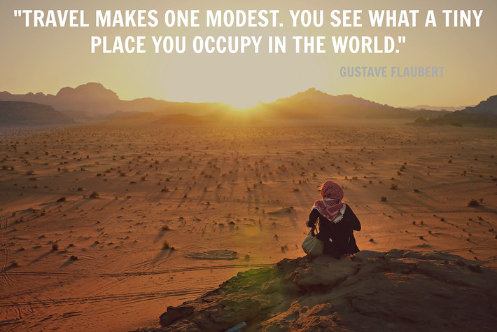 Travel quote from Gustave Flaubert
