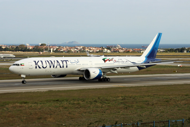 "9K-AOK Boeing 777-300ER c/n 62568 Istanbul - Ataturk/LTBA/IST 09-10-18 ""25/26 February Kuwait National Liberation Days"""