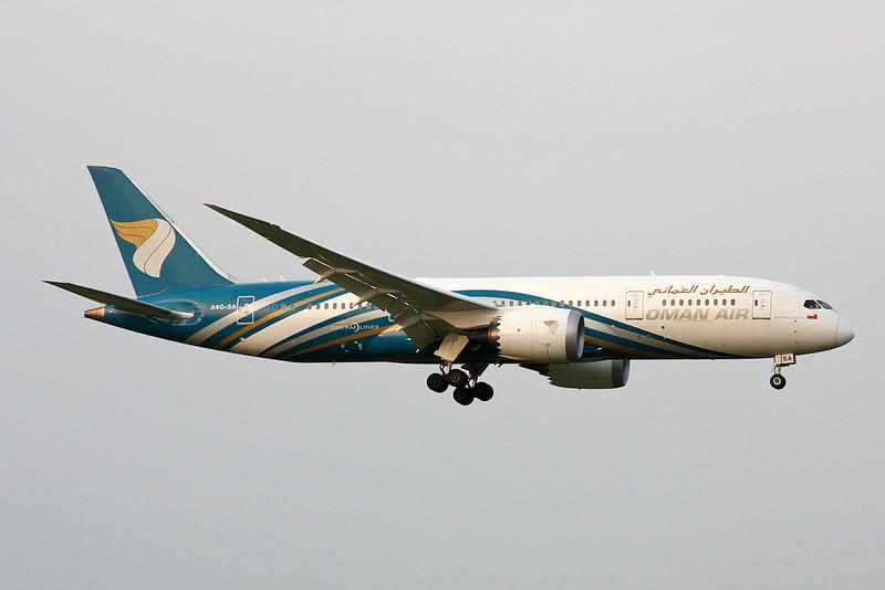 """A4O-SA Boeing 787-8 """"Oman Air"""" c/n 42378 Zurich/LSZH/ZRH 08-09-17"""
