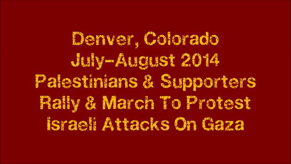 Palestine Protests Denver July-Aug 2014