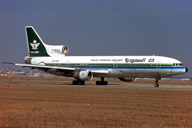 "HZ-AHA Lockheed L1011-200 TriStar ""Saudi Arabian Airlines"" c/n 1110 Frankfurt/EDDF/FRA 26-03-98 (35mm slide)"