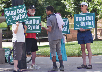 Protest against attack on Syria, Boulder, Co, 7/20/13.