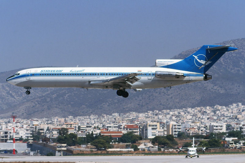 "YK-AGD Boeing 727-269 ""Syrianair"" c/n 22360 Athens-Hellenikon/LGAT/ATH 19-09-00 (35mm slide)"