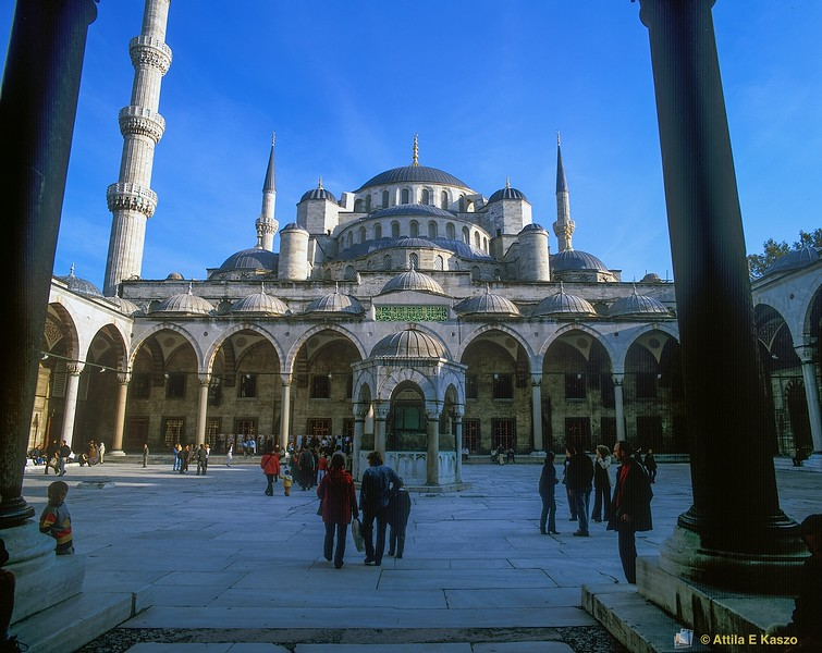 Blue Mosque - Courtyard<br /> Istanbul, Turkey<br /> 700-39-4