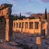 Frontinus Street - Roman Ruins<br /> Hierapolis, Turkey