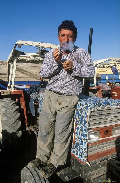 Farmer / Tractor<br /> Central Anatolia, Turkey