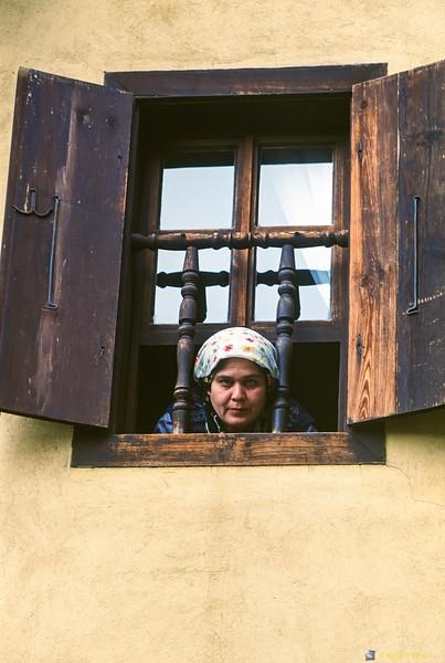 Woman in Window<br /> Safranbolu, Turkey