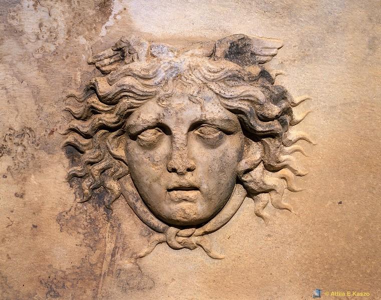 Medusa - Relief Detail<br /> Afrodisias, Turkey