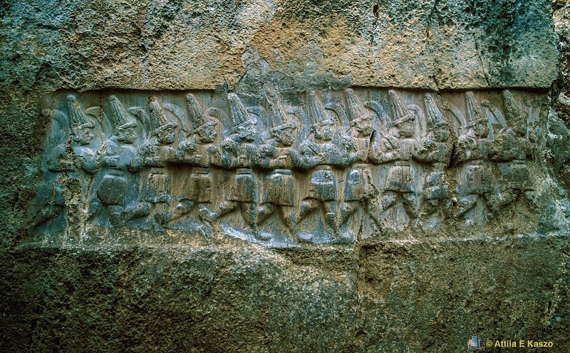 Relief - Hittite Gods 1280 BC<br /> Yazilikaya, Turkey<br /> 700-39-169