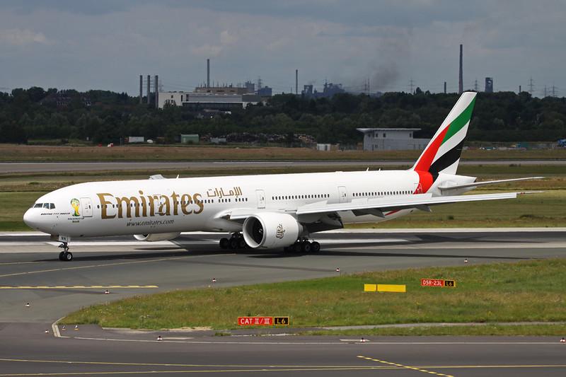 """A6-ENN Boeing 777-31HER c/n 41360 Dusseldorf/EDDL/DUS 22-06-14 """"World Cup 2014"""""""