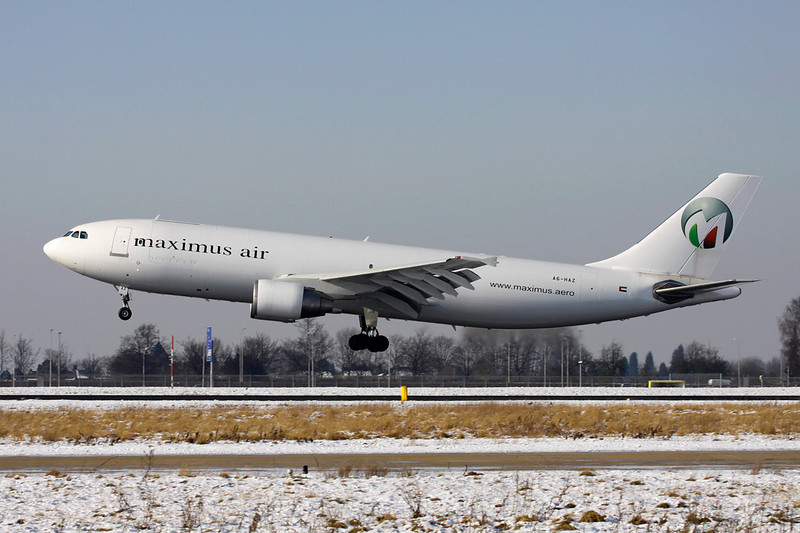 """A6-HAZ Airbus A300B4-622RF """"Maximus Air Cargo"""" c/n 837 Maastricht-Aachen/EHBK/MST 06/02/12"""