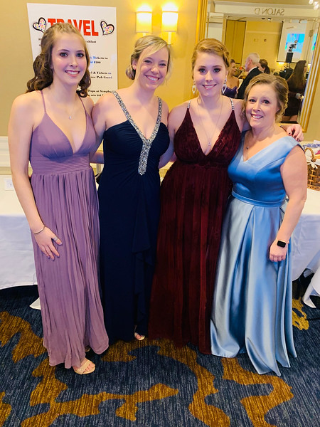 From left, Sydney Walsh of Groton, Lily Finn of Dunstable, and Rachel and Andrea Walsh of Groton