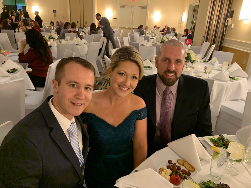 From left, Patrick and Melanie Hannon of Nashua, and Aaron Bélanger of Medford