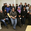 Students in the cybersecurity class on the Lowell campus along with some of the faculty posed for a picture in the new lab on Monday morning after the ribbon cutting to open the lab up. SUN/JOHN LOVE