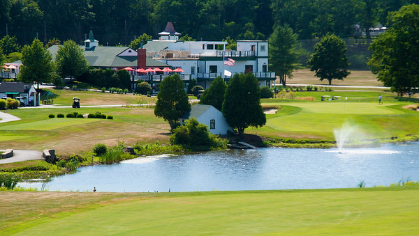 JIM VAIKNORAS/Staff photo The club house and new building at Fercroft as seen from the 18th fairway.
