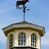 JIM VAIKNORAS/Staff photo  A cow shaped weathervane on the cupola at Richardson's Farm in Middleton.