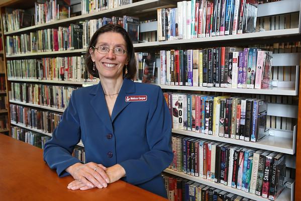 KEN YUSZKUS/Staff photo.       Middleton's Flint Public Library director Melissa Gaspar.    05/18/16
