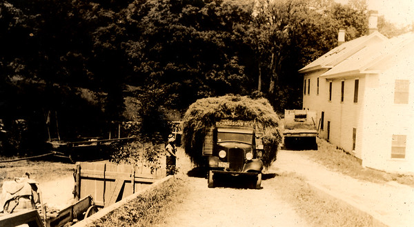 Hauling hay at Richardson's in the late 1920's