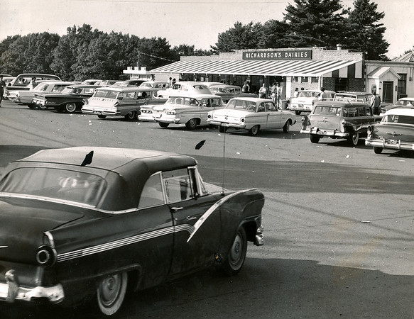 Richardson's Dairies draws a crowd in this photo from the early 1960's.