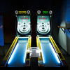 JIM VAIKNORAS/Staff photo Two  Skeeball  machines at the Club House in Middleton. $1 a game